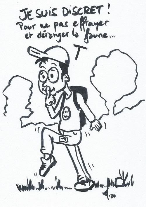 Dessin Matthieu Morard du Parc naturel régional des Baronnies provençales