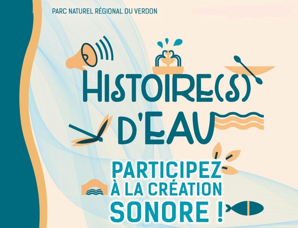 affiche Histoire(s) d'eau : participez à la création sonore !