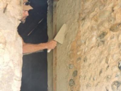 Restauration d'un pigeonnier sur Valensole par des techniques traditionnelles