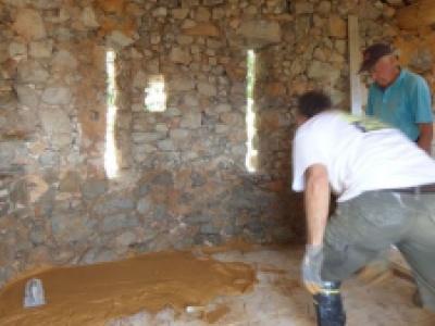 Restauration du séchoir à prune de Saint-Julien du Verdon