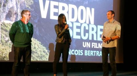 avant-première à l'écociné de Gréoux-les-Bains, de Verdon Secret, un film en 3D - photo Anecdoc